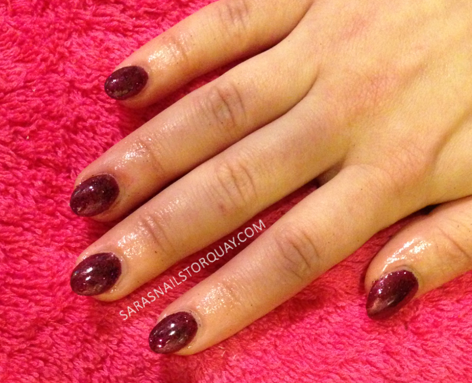 Dark Red Shellac Nails Dark Red Shellac Sara's